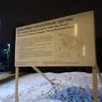 Development sign