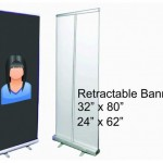 Retractable banner stand 32X80 or 24X62