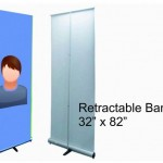 Retractable banner stand 32X82