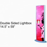 double sided light box