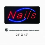 nails led sign