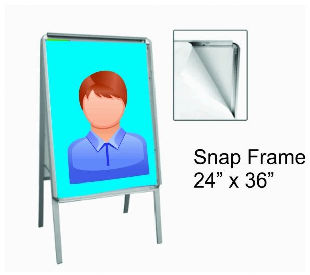 Snap Frame Sandwich Board 24x36 Home