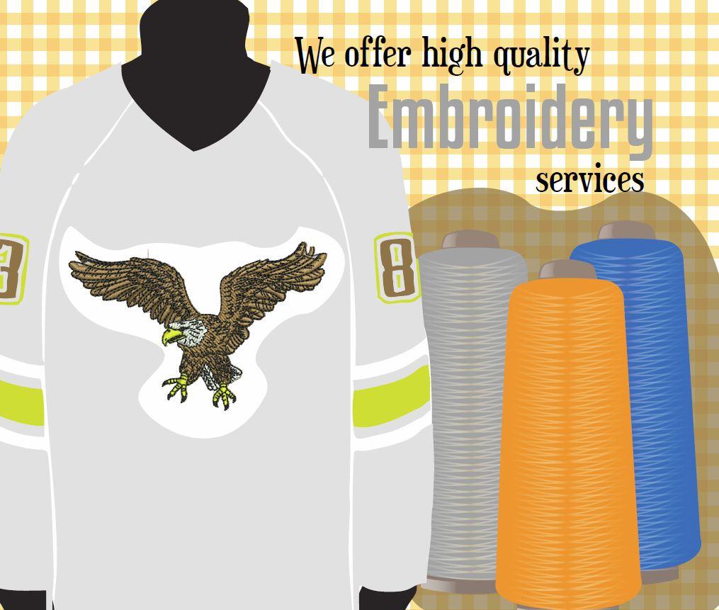 Team uniform embroidery vancouver